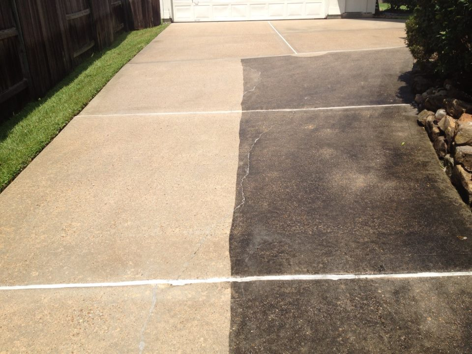 Pressure washing dailey maintenance llc for Cleaning concrete steps